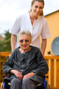caregiver and female senior